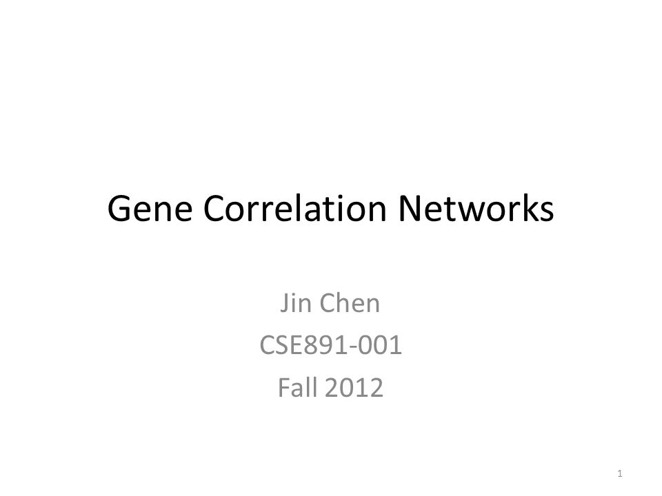 Weighted gene co-expression network 12 Bin Zhang and Steve Horvath (2005) Statistical Applications in Genetics and Molecular Biology: Vol.