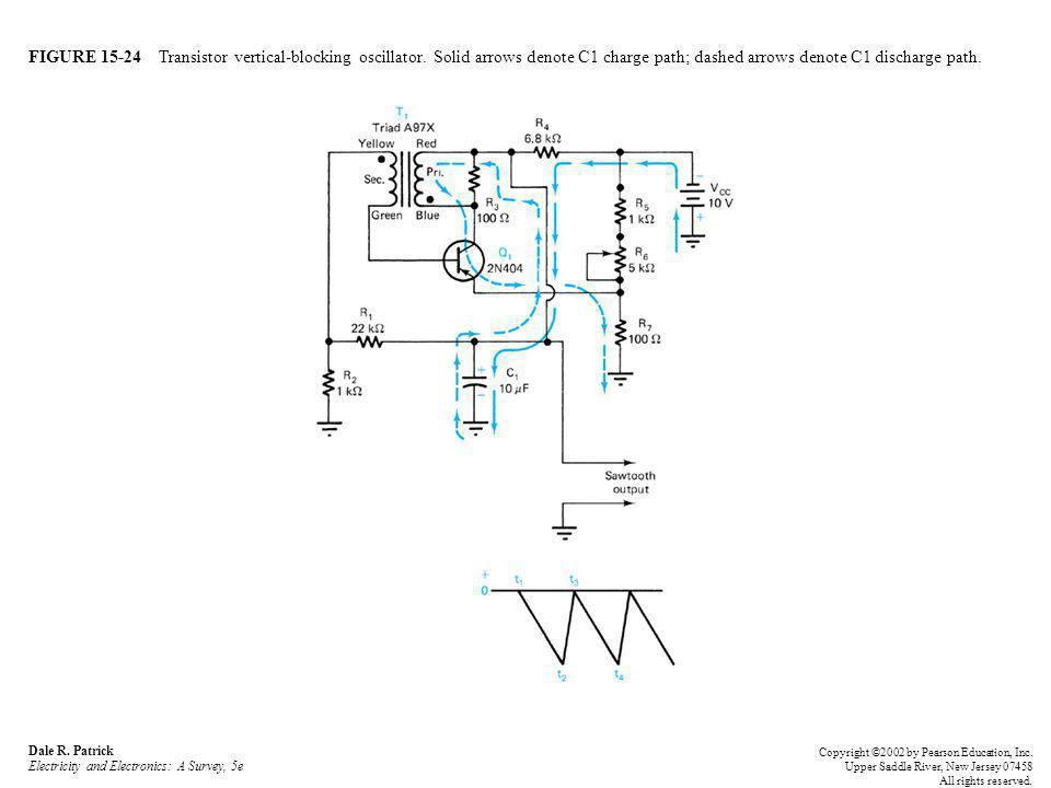 FIGURE 15-24 Transistor vertical-blocking oscillator.