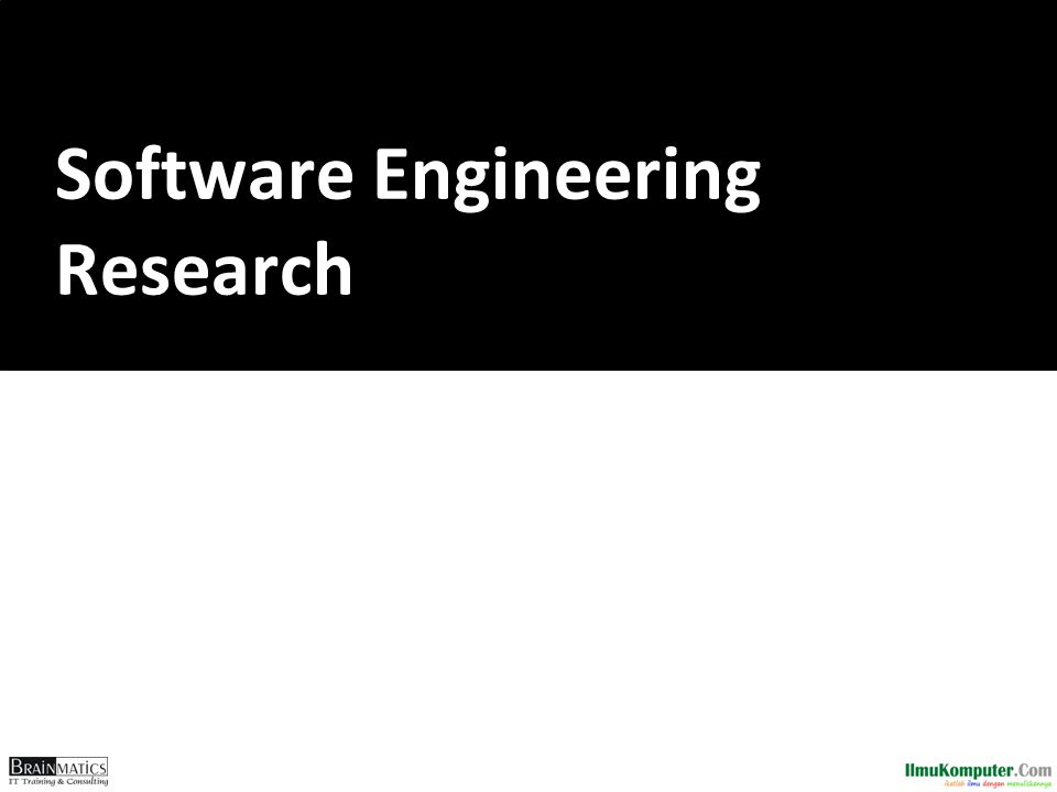 Software Engineering Research
