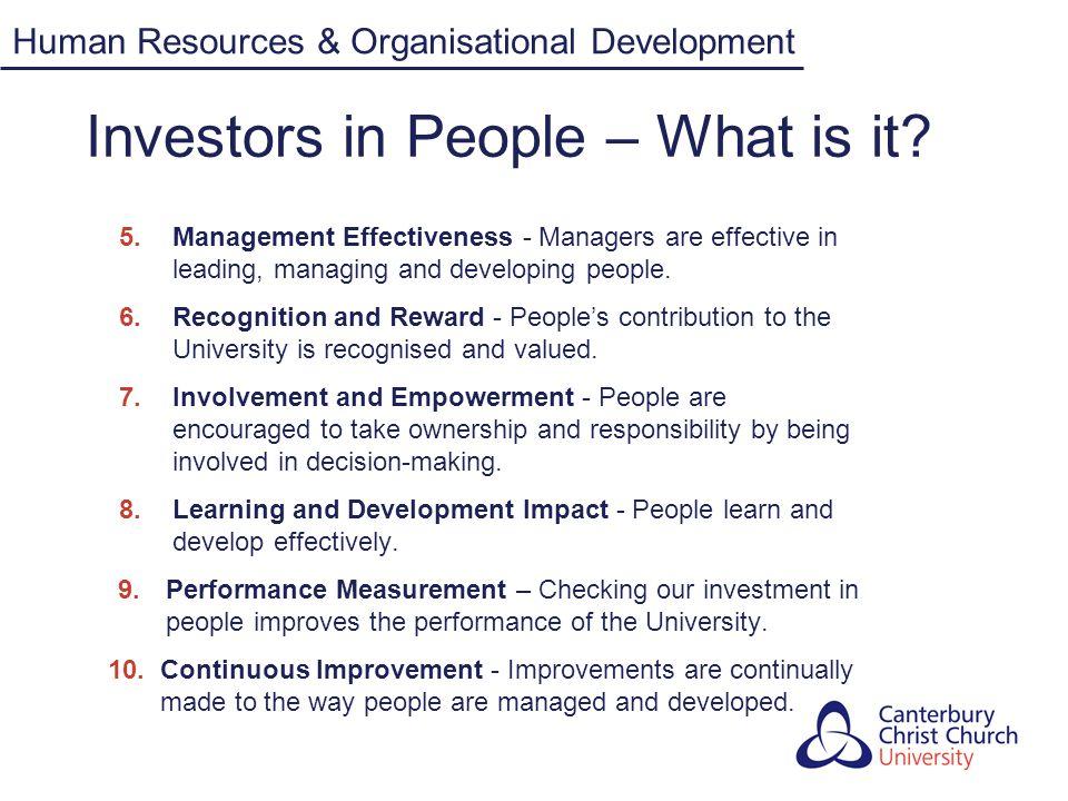 Investors in People Why be an 'Investor in People (IiP).