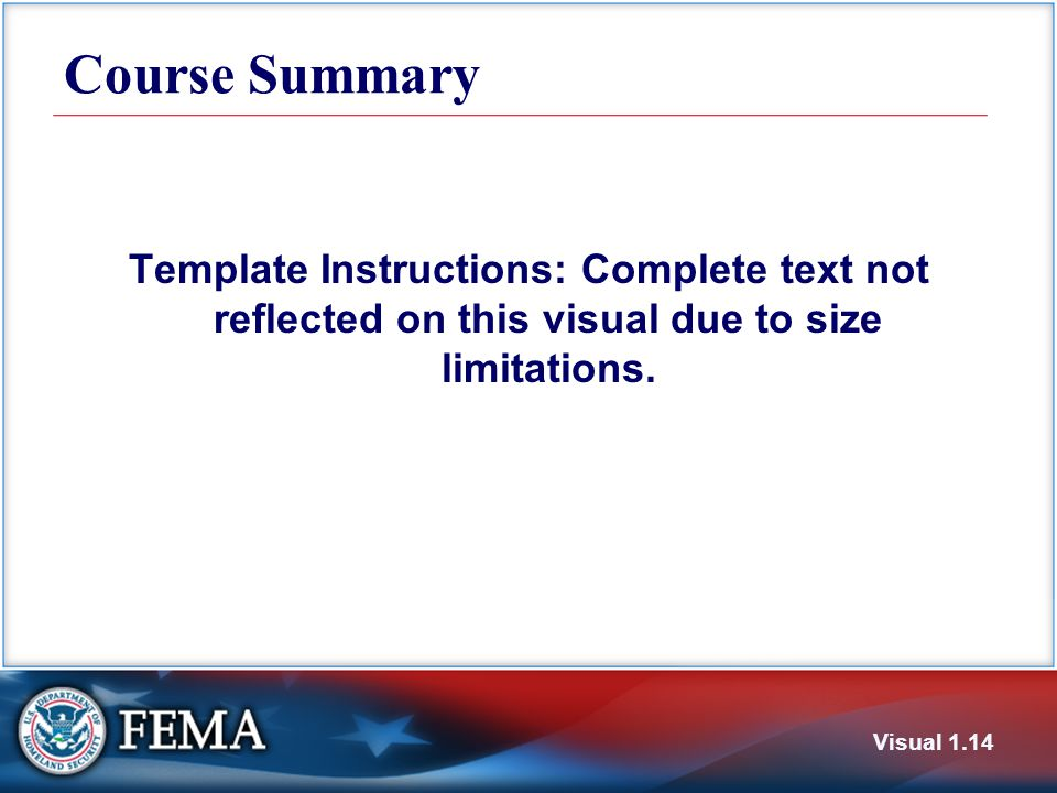 Course Summary Template Instructions: Complete text not reflected on this visual due to size limitations.