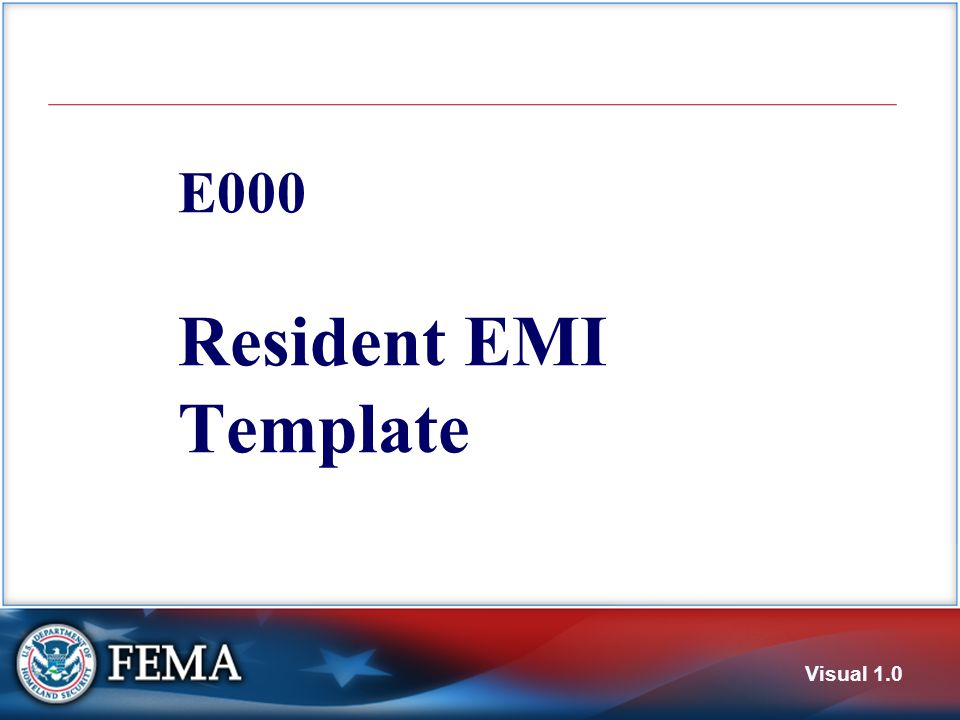 E000 Resident EMI Template Visual 1.0