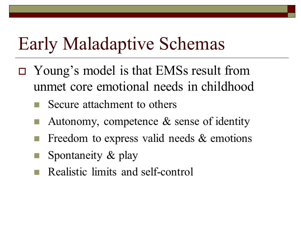 Schema Therapy  Early Maladaptive Schemas  Life-traps  Filters