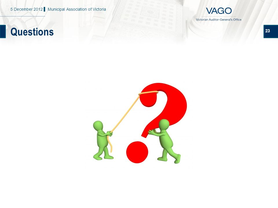 Questions 23 5 December 2012 ▌ Municipal Association of Victoria