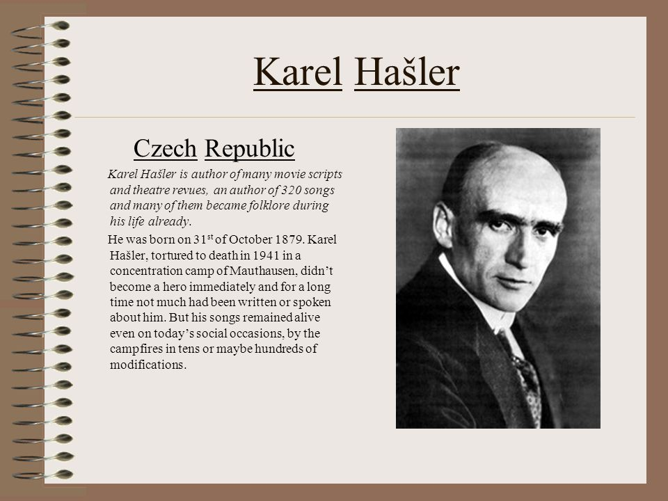 Karel Hašler and Jaromír Vejvoda Comenius – Project