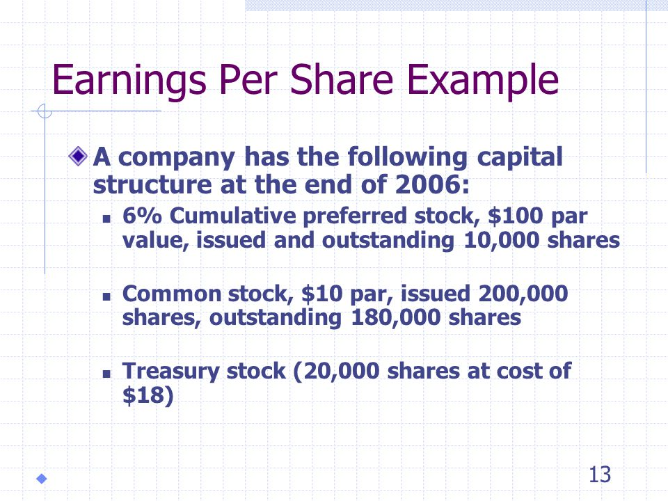 12 Basic Earnings Per Share Net Income - Preferred Dividends Weighted average number of common shares outstanding