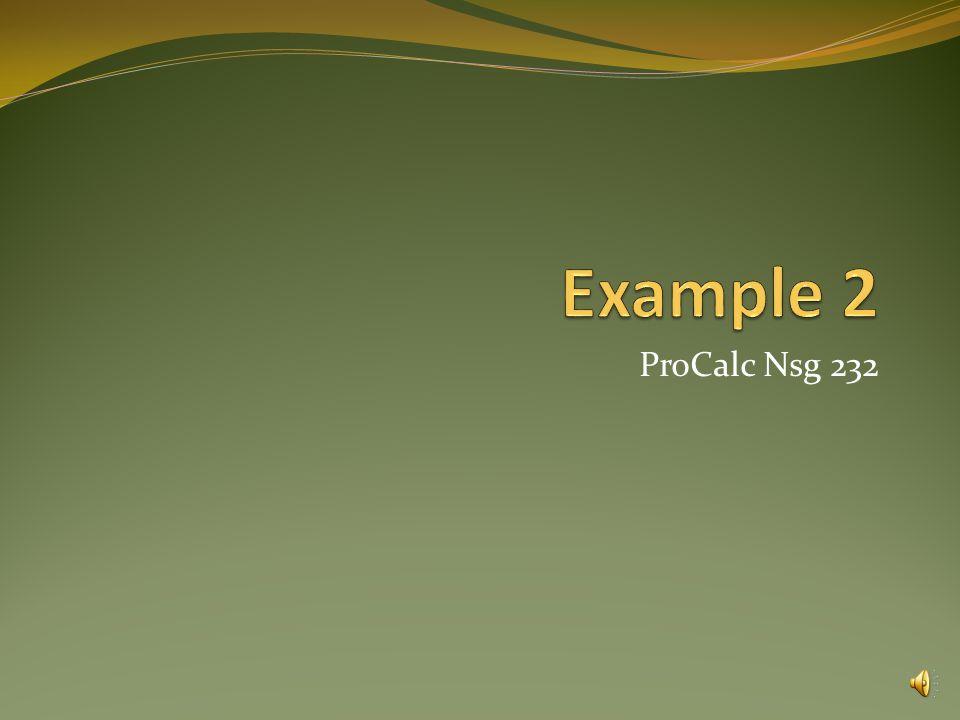 ProCalc Nsg 232
