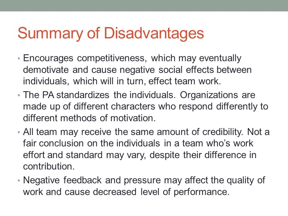 Conclusion Any PA is successful if followed correctly.