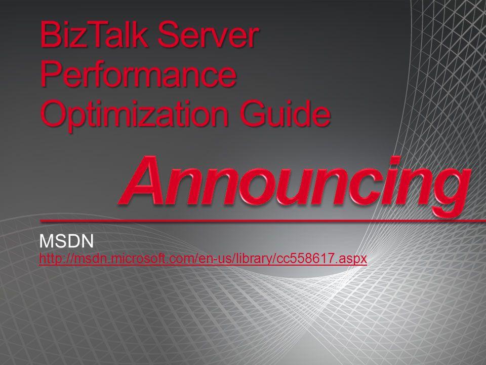 BizTalk Server Performance Optimization Guide MSDN http://msdn.microsoft.com/en-us/library/cc558617.aspx