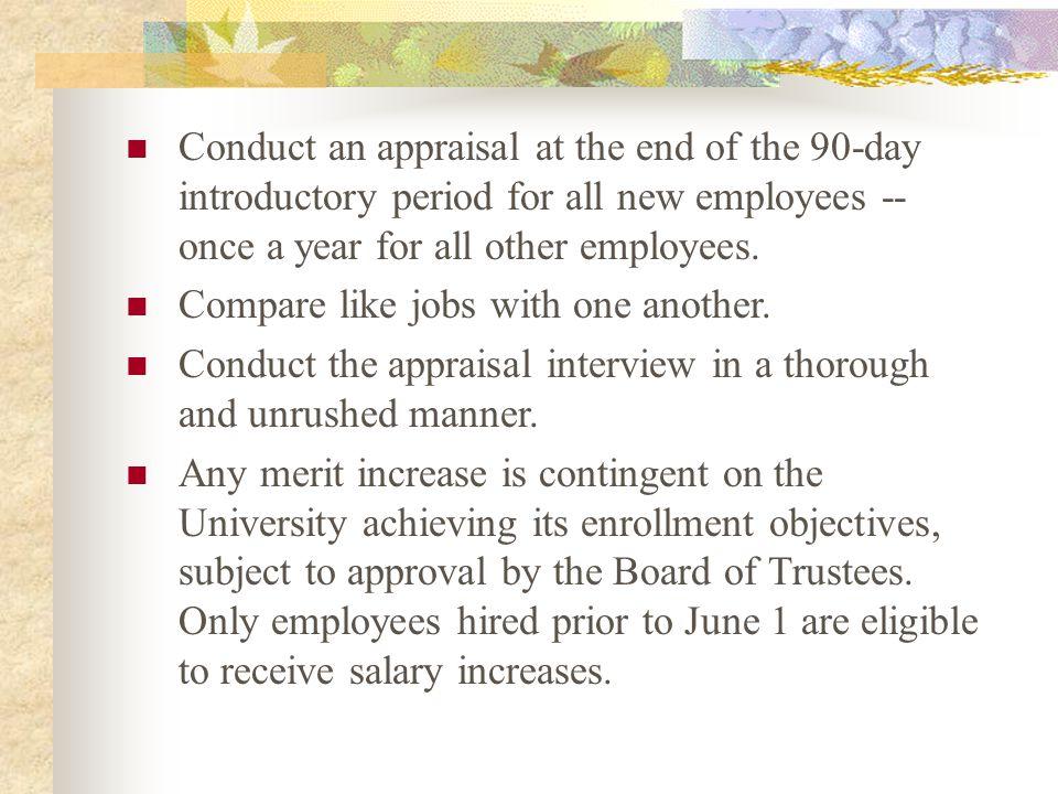 Performance Appraisal Deadline: AUGUST 15 TH