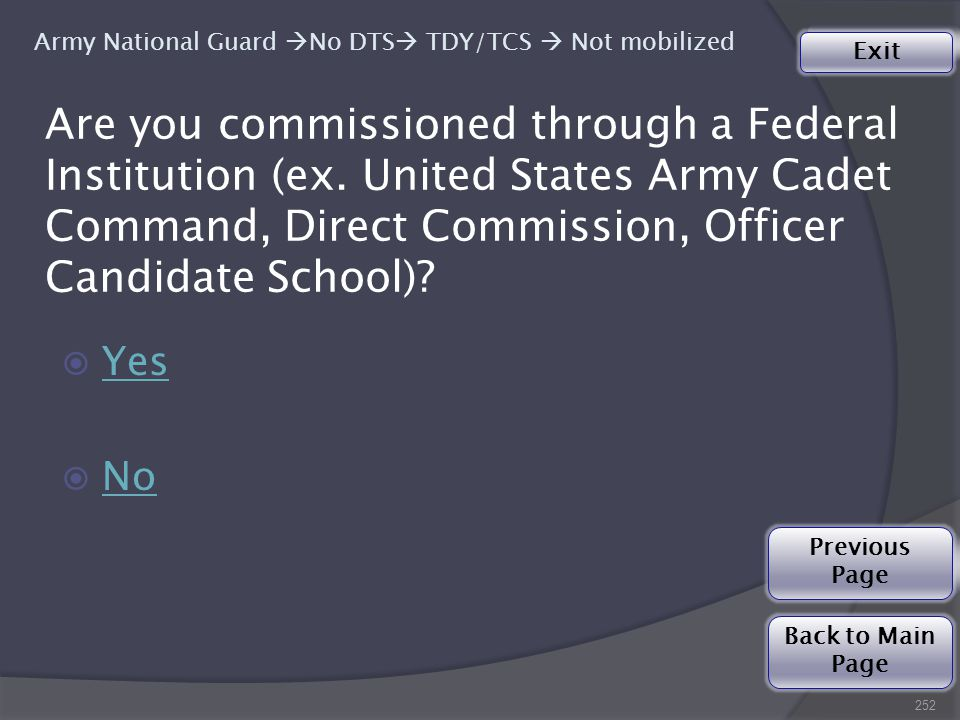 Are you commissioned through a Federal Institution (ex.