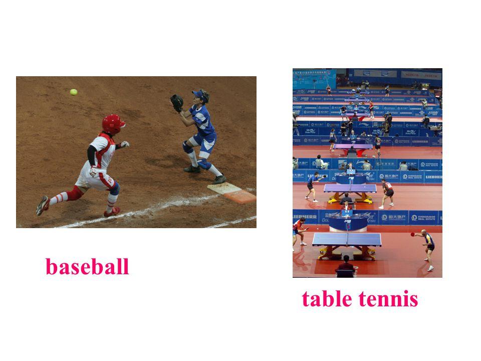 baseball table tennis