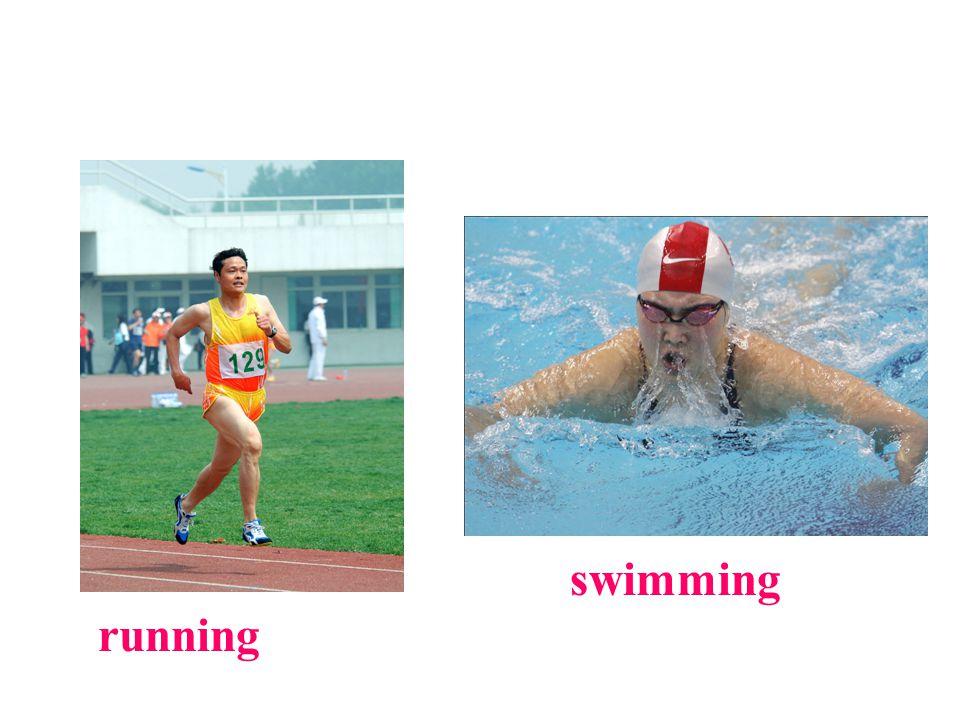 running swimming