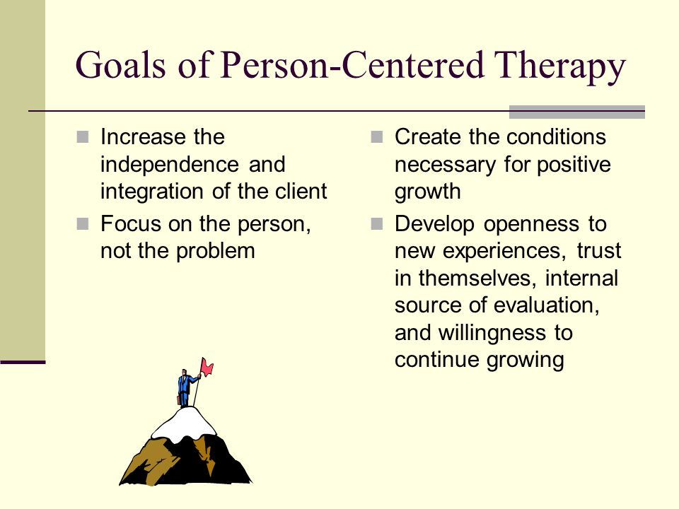 person centred therapy evaluation Rogers believed that for person-centred therapy to be successful scientific evaluation carl rogers was aware that the critics viewed the humanistic outlook as.