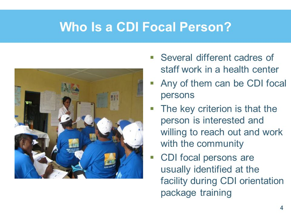 Who Is a CDI Focal Person.
