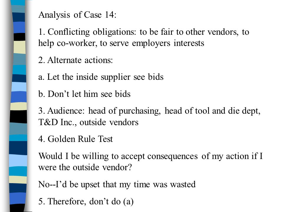 Analysis of Case 14: 1.