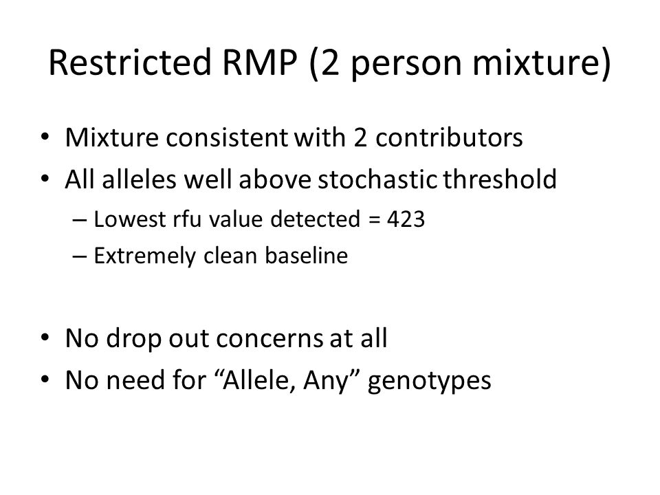 Restricted RMP (2 person mixture)