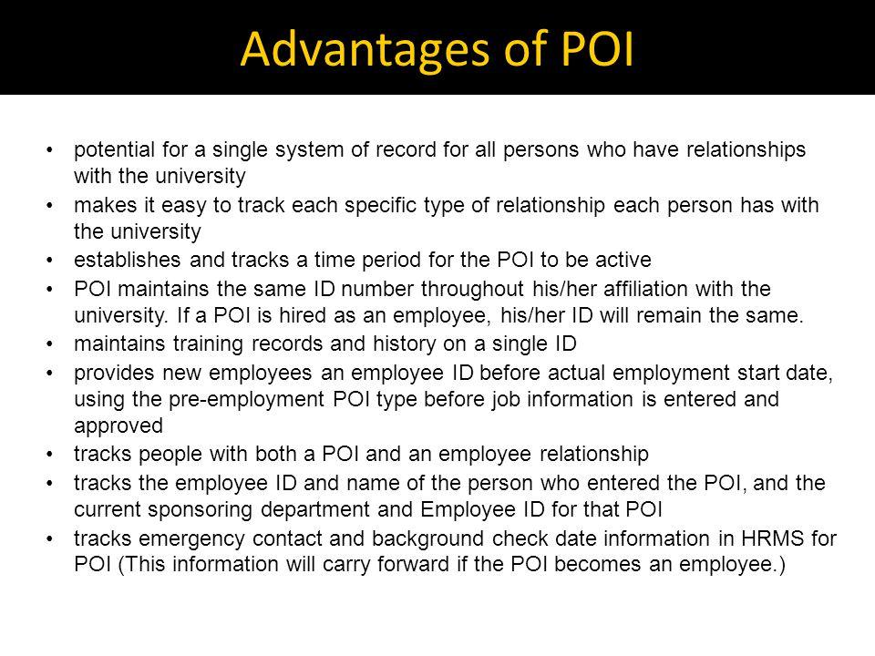 How do we enter a POI? Follow the POI Map