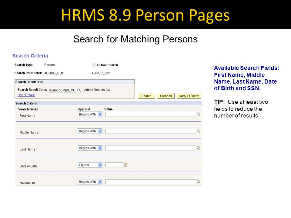HRMS 8.9 Person Pages Add A Person