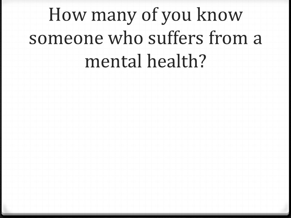 How many students suffer mental illness.0 1 in 4 young Australians lives with a mental illness.