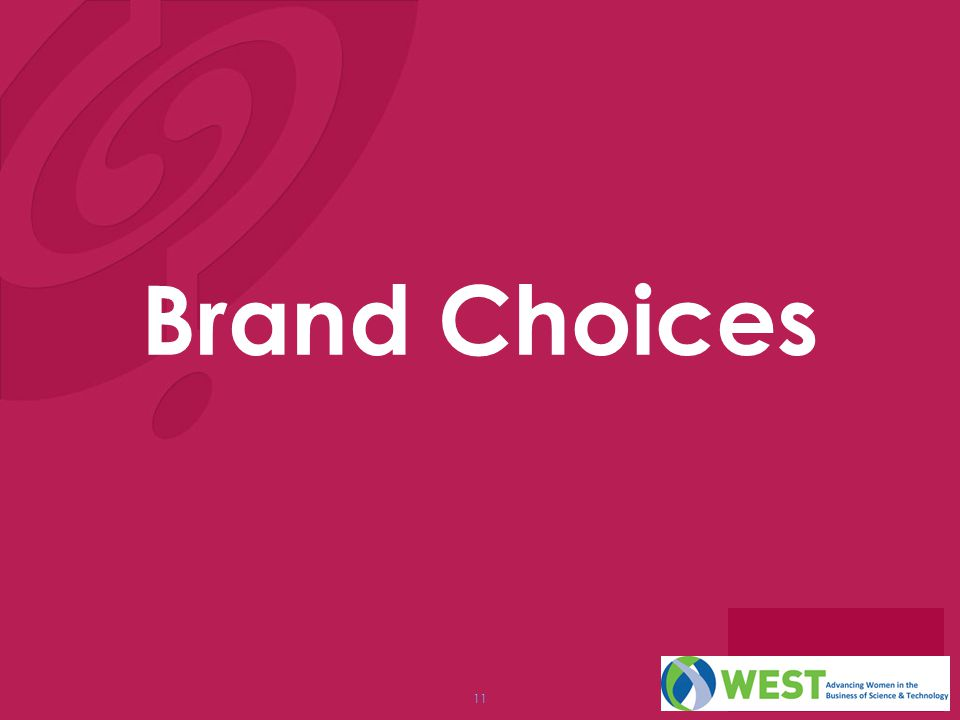 11 Brand Choices