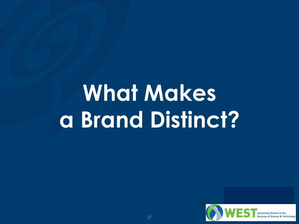27 What Makes a Brand Distinct?