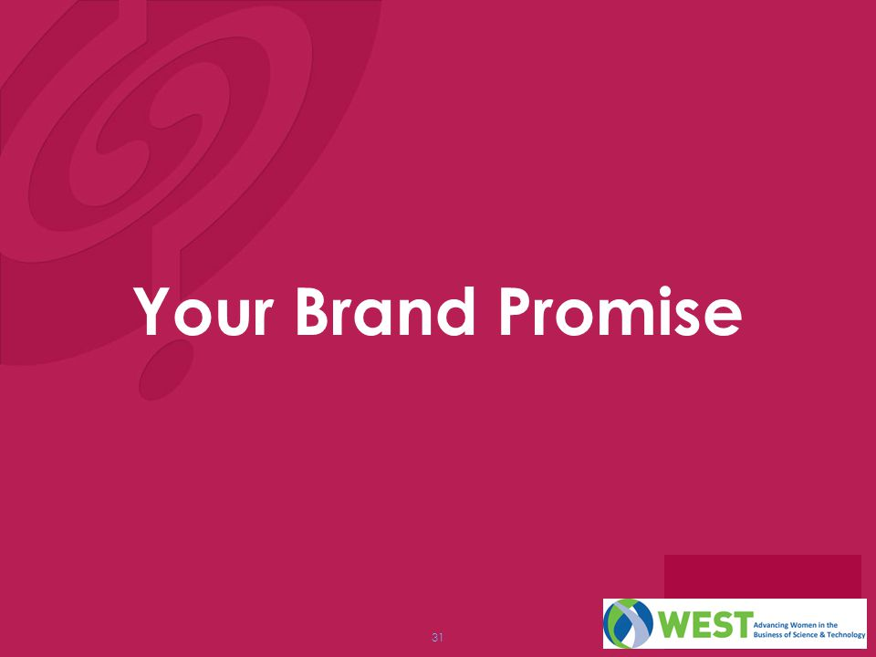 31 Your Brand Promise