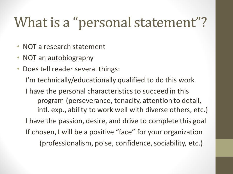 Personal statement fellowship service