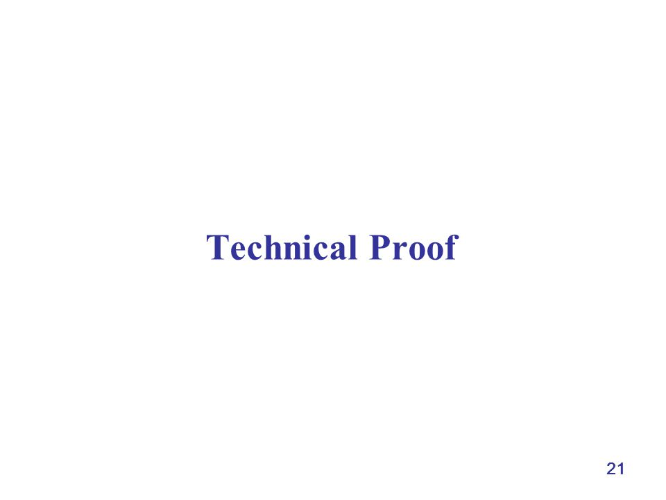 21 Technical Proof