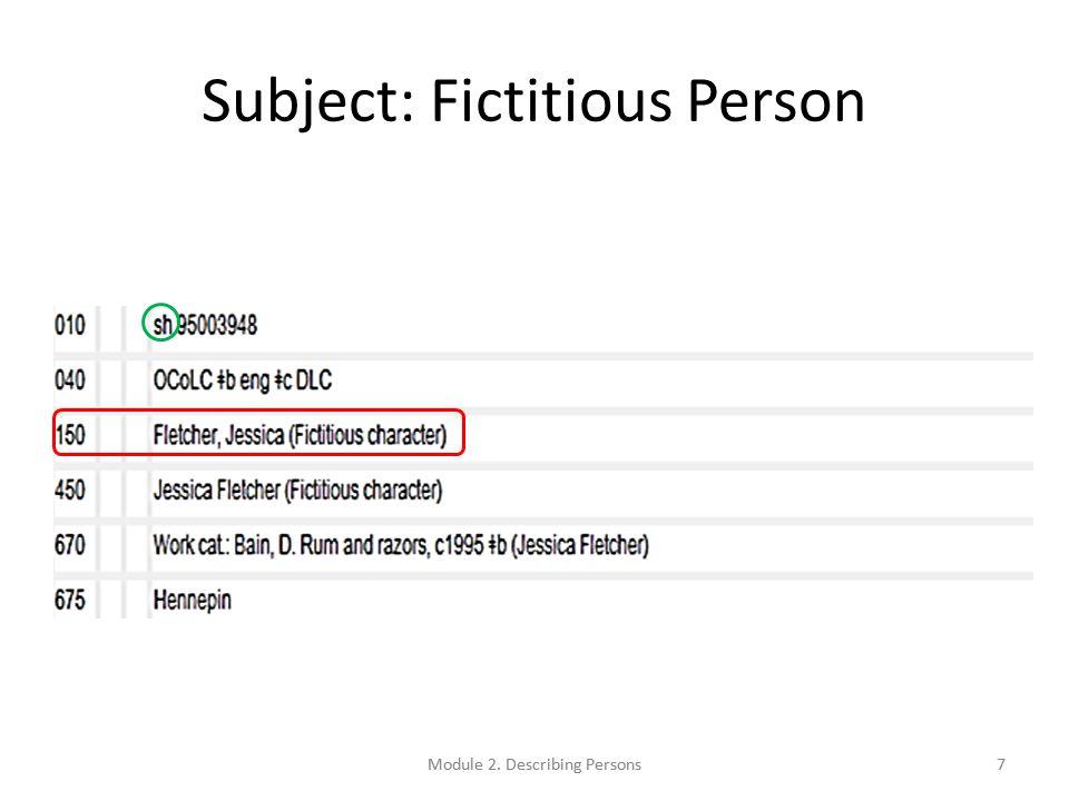Preferred Name: Examples 100 1_ Carter, Jimmy, $d 1924- 100 1_ Fein, David $q (David Jonathan) 100 1_ Presley, Elvis, $d 1935-1977 $c (Spirit) 100 0_ Cher, $d 1946- 100 1_ Smith, Joseph, $c Jr., $d 1805-1844 100 1_ Brown, Hiram S., $c Jr.