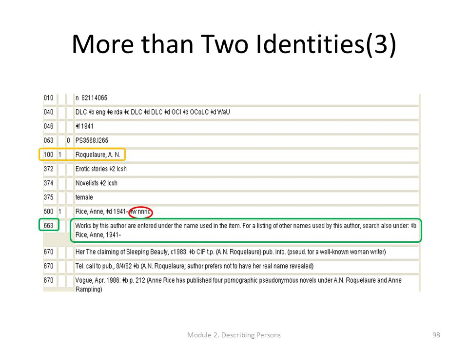 More than Two Identities(3) 98Module 2. Describing Persons