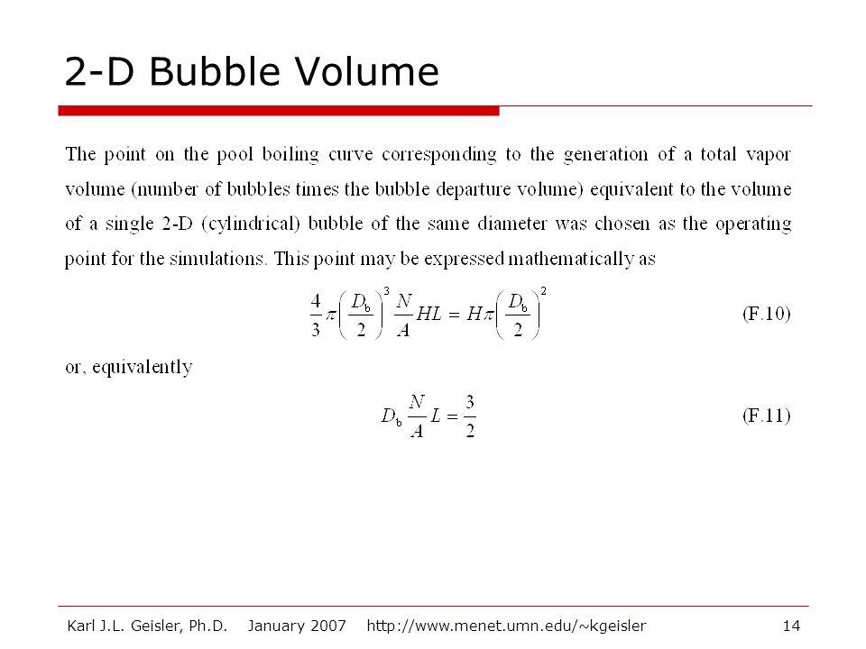 Karl J.L. Geisler, Ph.D. January 2007 http://www.menet.umn.edu/~kgeisler14 2-D Bubble Volume