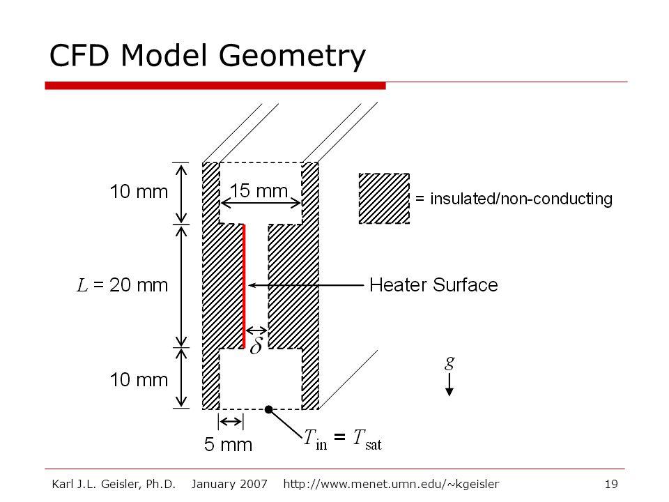 Karl J.L. Geisler, Ph.D. January 2007 http://www.menet.umn.edu/~kgeisler19 CFD Model Geometry