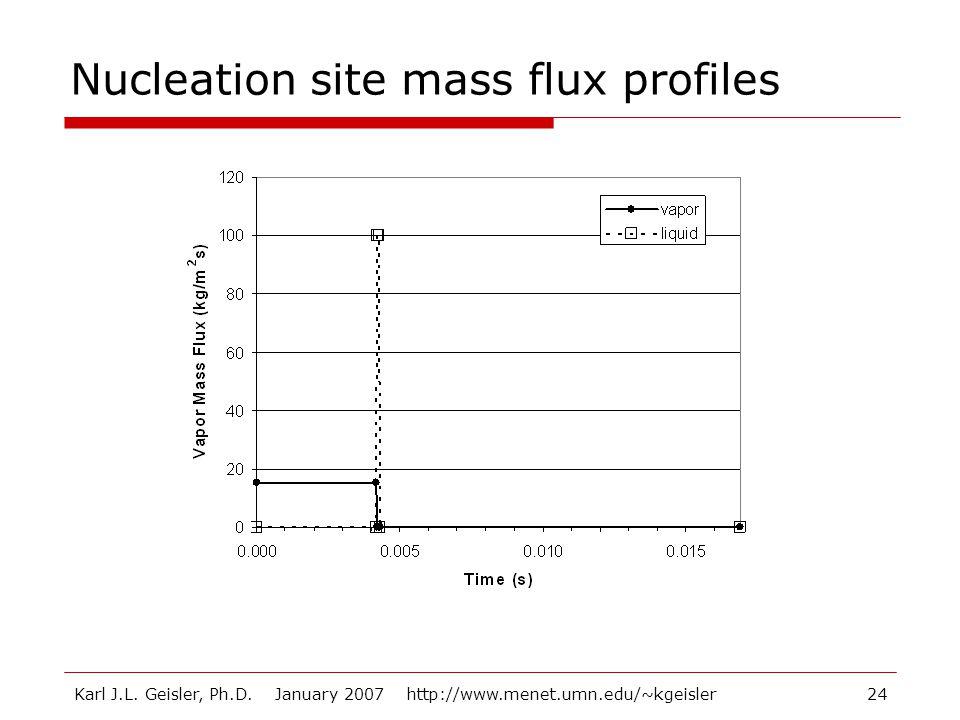 Karl J.L. Geisler, Ph.D. January 2007 http://www.menet.umn.edu/~kgeisler24 Nucleation site mass flux profiles