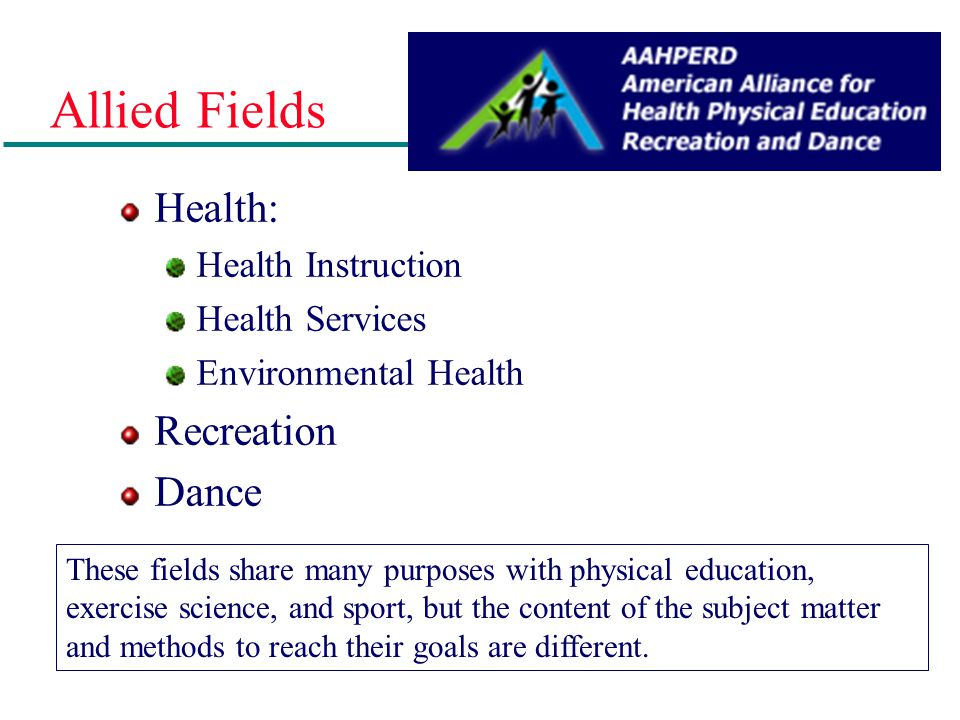 A New Name for the Field Physical Education- traditional, but too narrow; does not reflect the expanding nature of the field. Kinesiology- study of hu