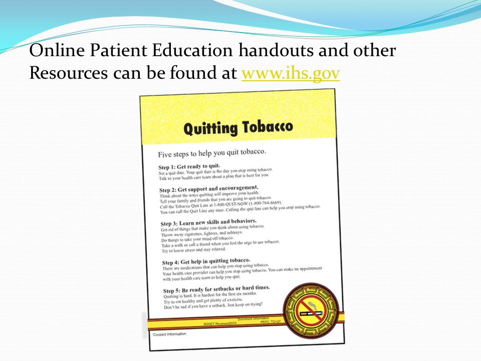 Online Patient Education handouts and other Resources can be found at