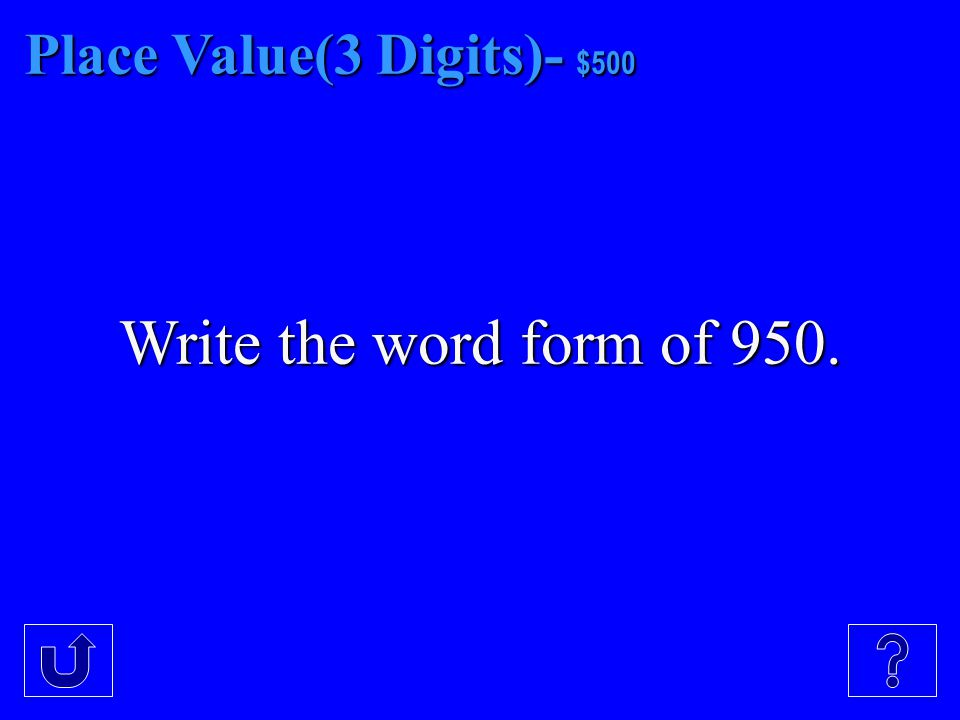 Place Value(3 Digits)- $400 Write the expanded form on 604.