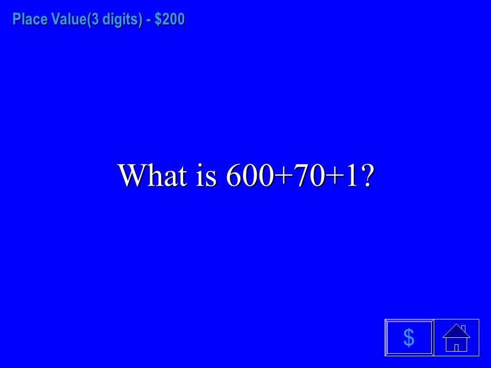 Place Value (3 digits) - $100 328 $