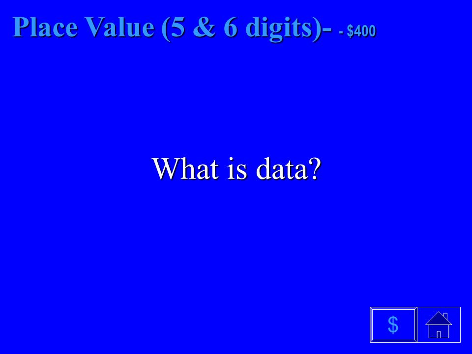 Place Value (5 & 6 digits)- - $300 What is solve $