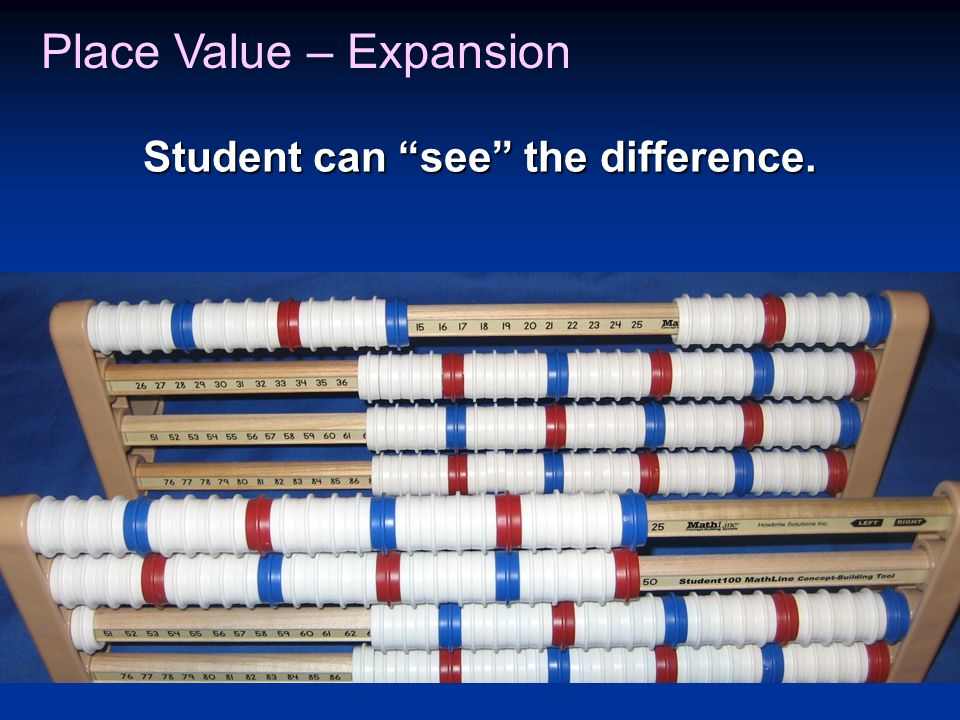 Student can see the difference. Place Value – Expansion