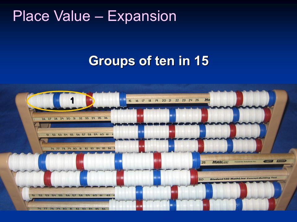 1 Groups of ten in 15