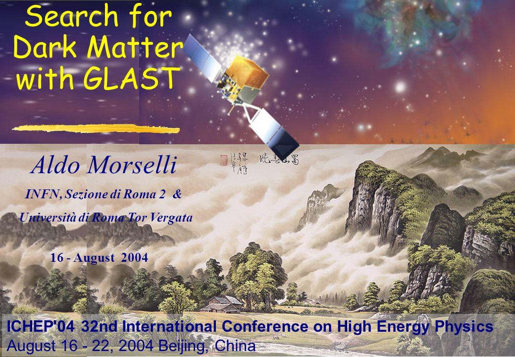 Aldo Morselli, INFN, Sezione di Roma 2 & Università di Roma Tor Vergata, aldo.morselli@roma2.infn.it 2 What is the Universe made of .