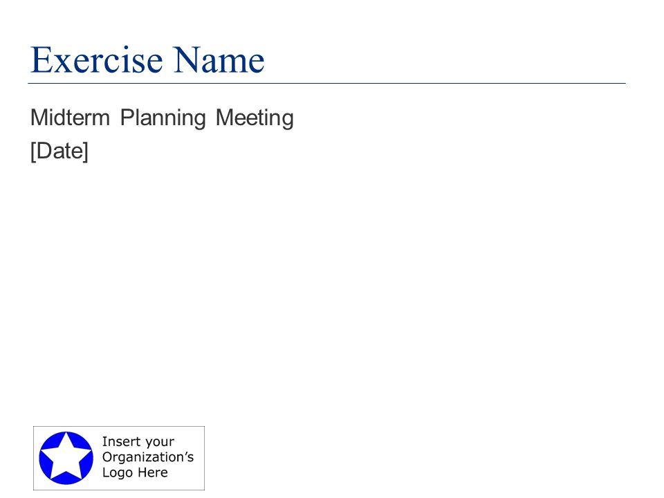 Exercise Name Midterm Planning Meeting [Date]