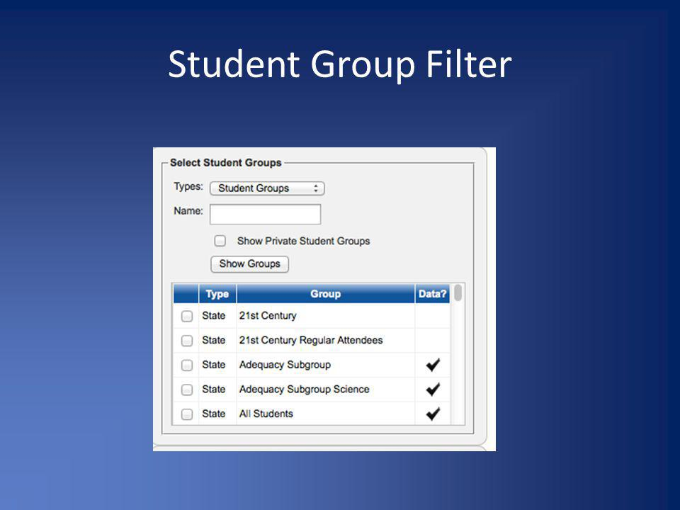 Student Group Filter