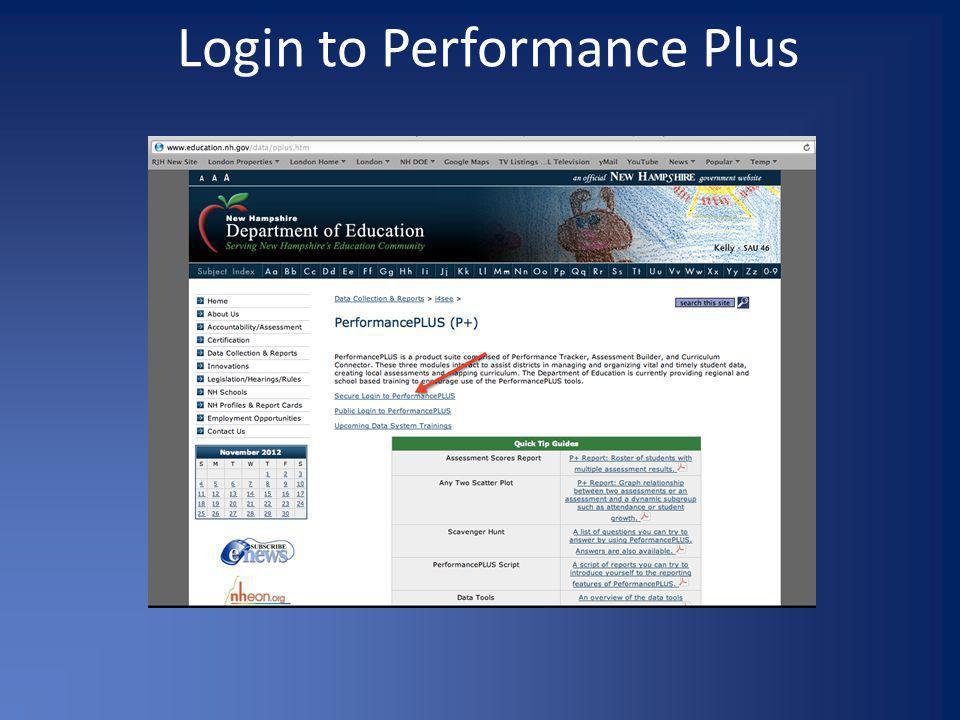 Login to Performance Plus