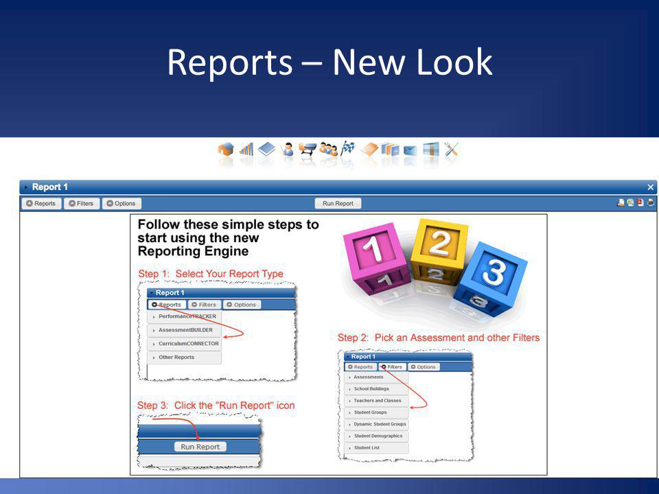 Assessment Scores Report Include as many assessments as you want.