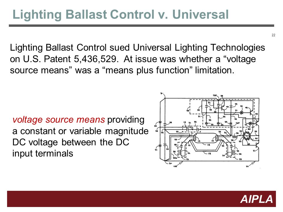 22 AIPLA Firm Logo Lighting Ballast Control v.