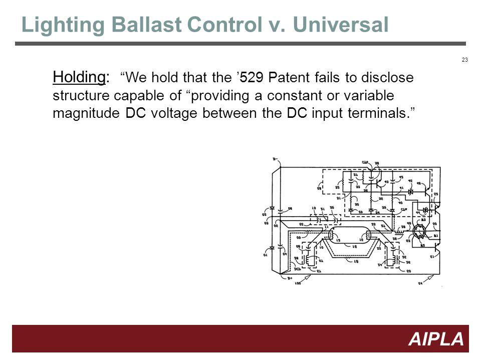 23 AIPLA Firm Logo Lighting Ballast Control v.