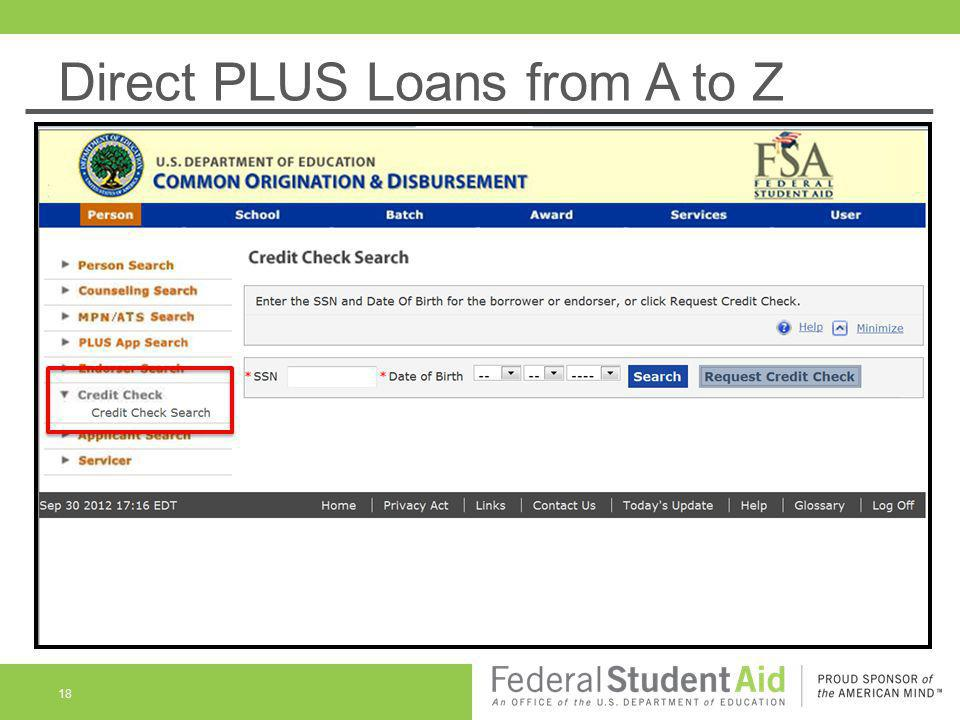 Direct PLUS Loans from A to Z 18