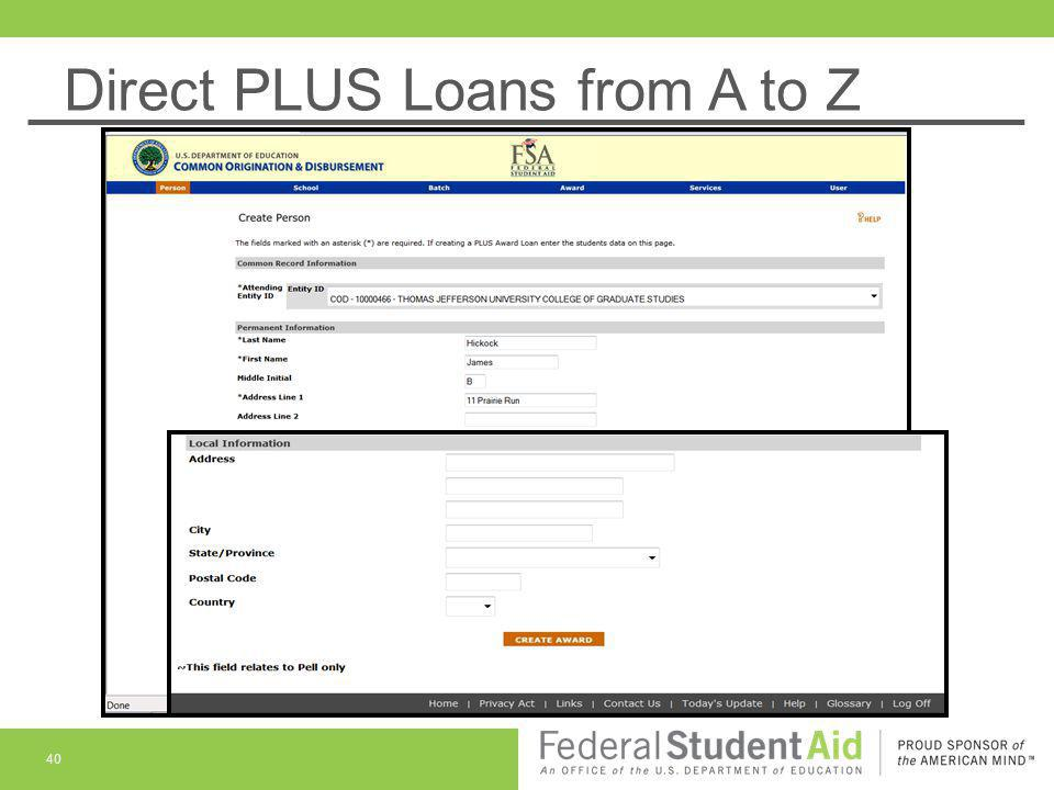 Direct PLUS Loans from A to Z 40